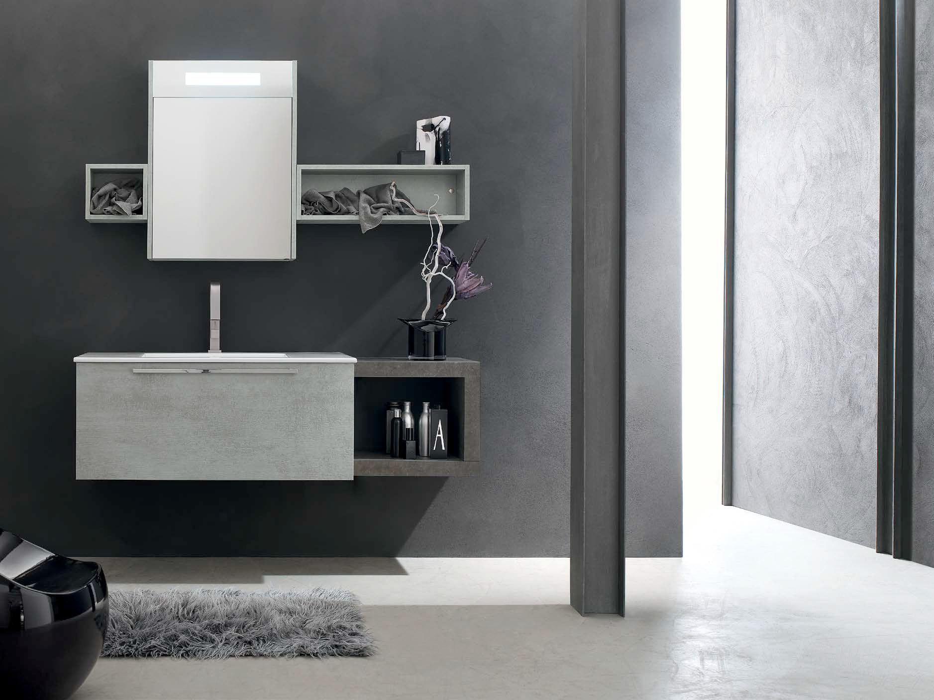 Sistema bagno componibile e ly composizione 40 - Arcom mobili bagno ...