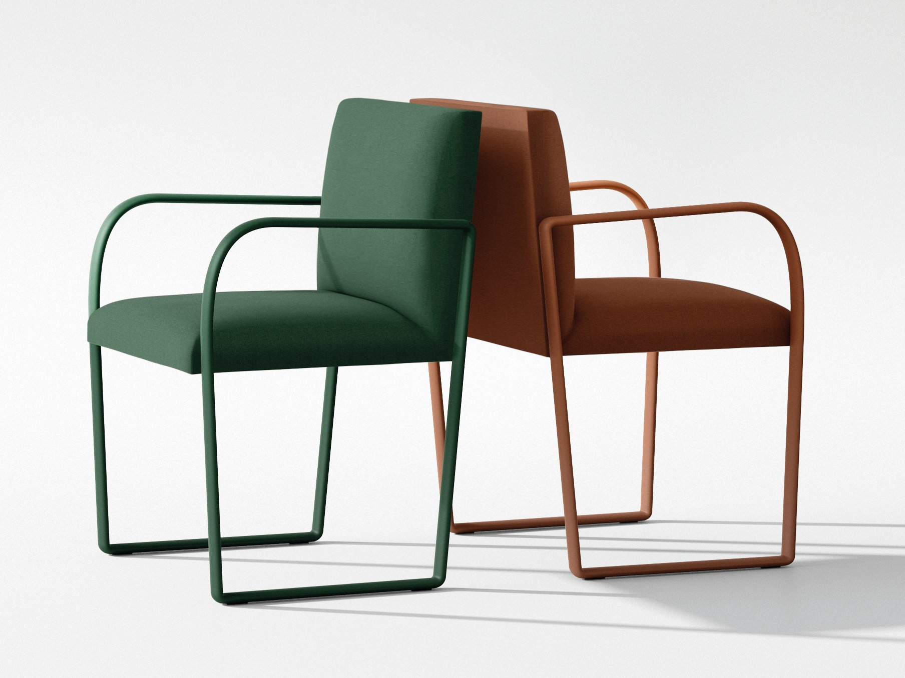 Arcos chair arcos collection by arper design lievore altherr for Sedie design