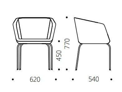 Dimensions MEG | Upholstered Chair