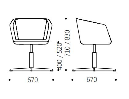 Dimensions MEG | Chair With 4 Spoke Base