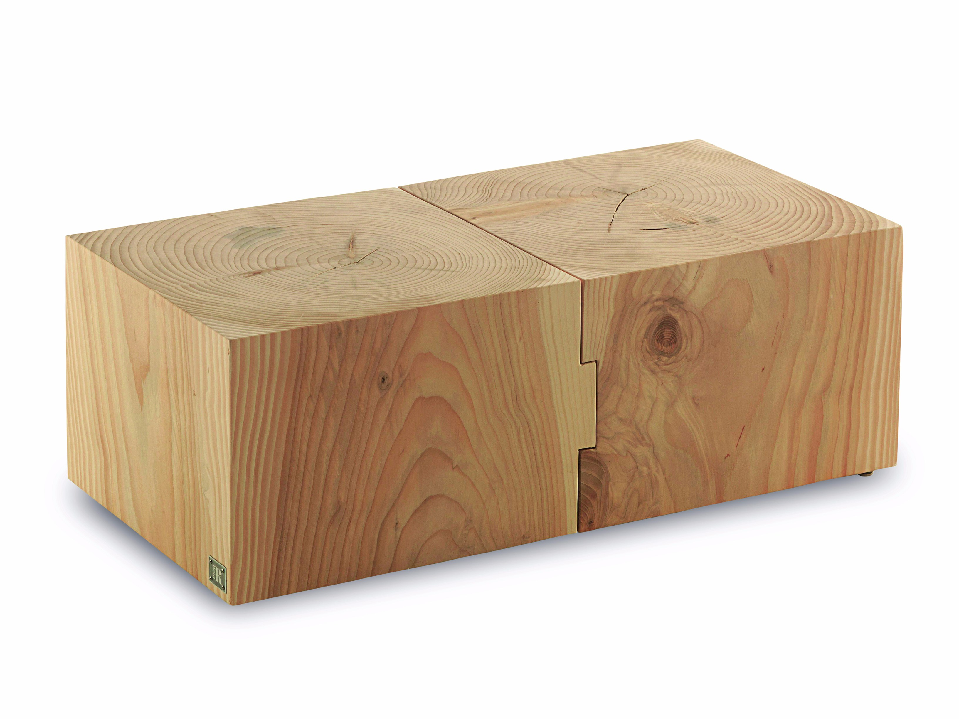 Square solid wood coffee table ECO BLOCK