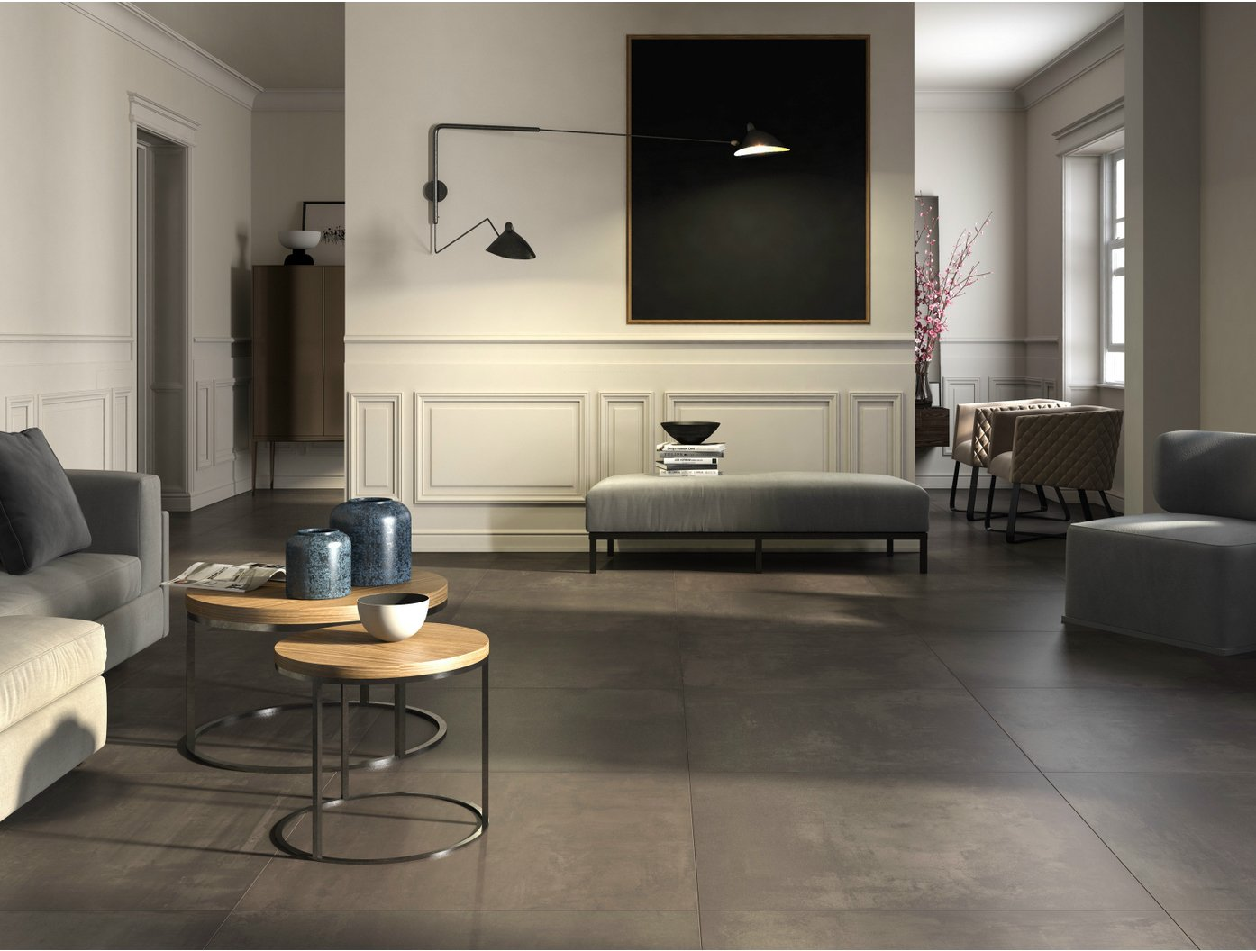 Porcelain Stoneware Flooring With Concrete Effect EGO By Ceramica DImola