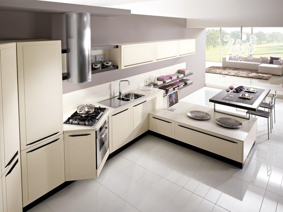 Ergonomic Wooden Kitchen With Handles Quadra Ergonomic Kitchen Quadra Collection By Dibiesse