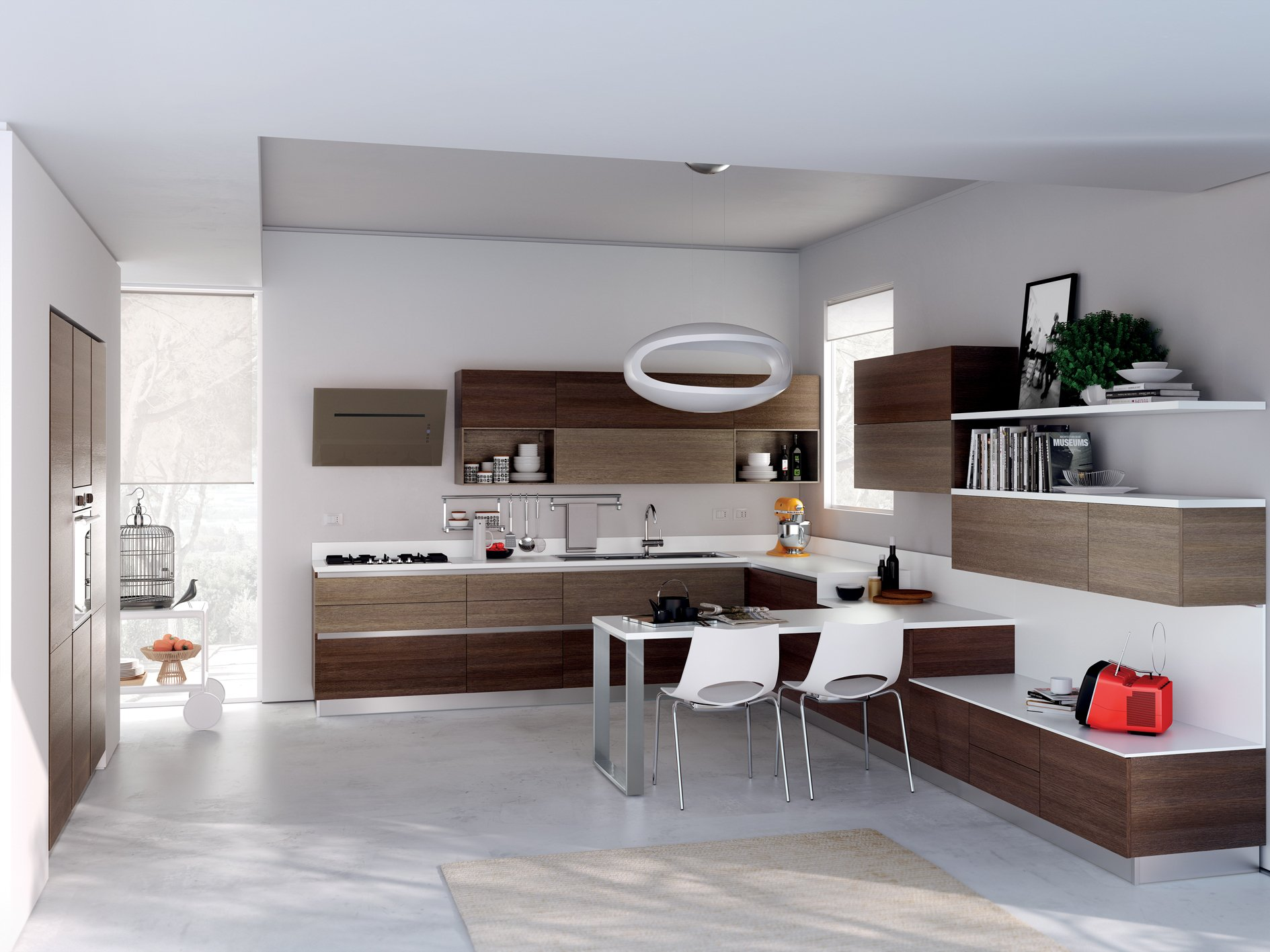 Cucina componibile evolution linea scavolini basic by for Piccole cucine con penisola