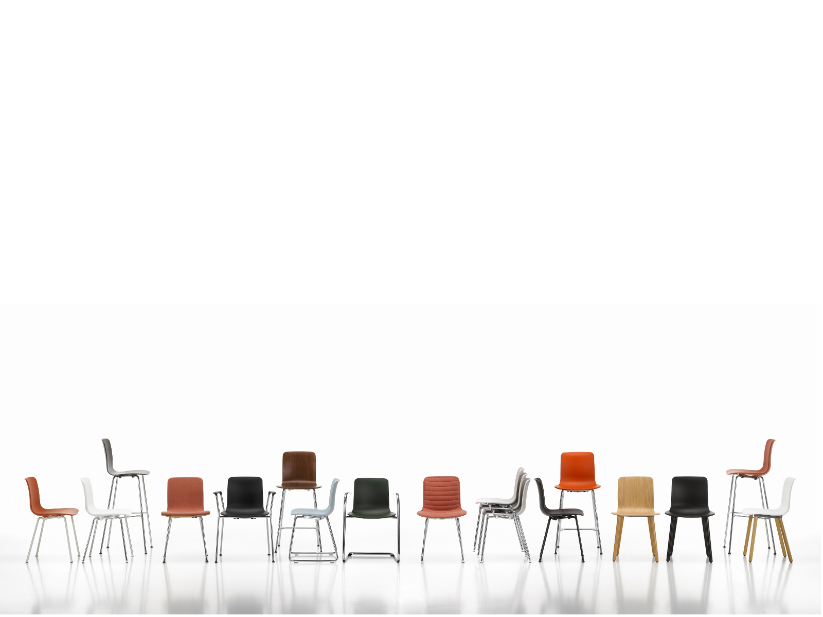 Polypropylene chair HAL TUBE HAL Collection By Vitra design Jasper