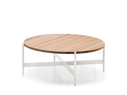 Perfect Low Round Accoya® Wood Garden Side Table HERON   Round Coffee Table By  Paola Lenti