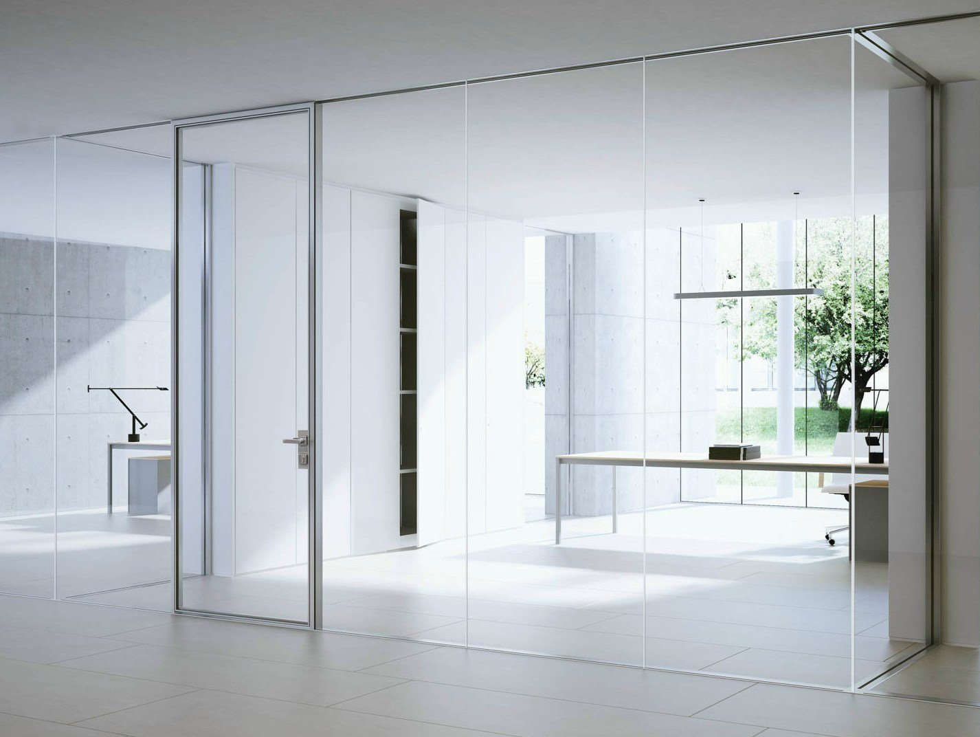 Floating Glass Partition