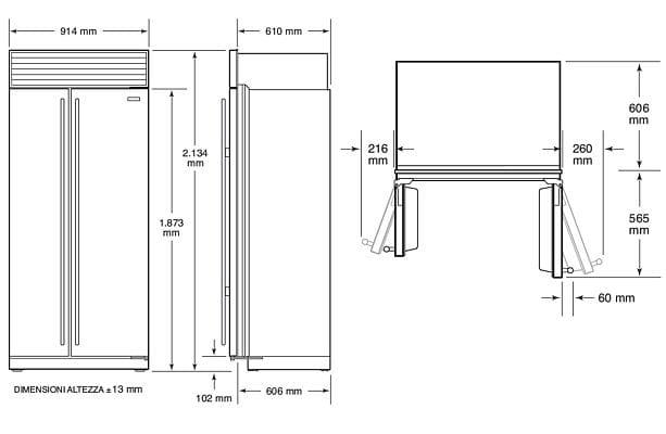 Frigo Americano Dimensioni - diseño moderno, sala de estar, comedor ...