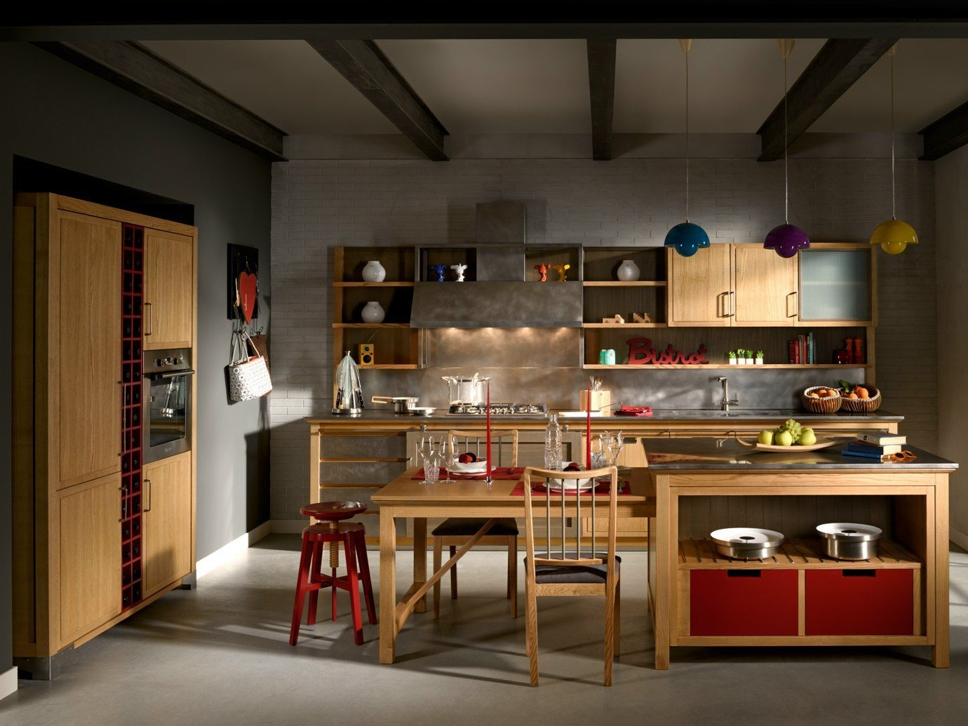 Industrial chic cucina con isola by l 39 ottocento - Cucine stile industrial chic ...