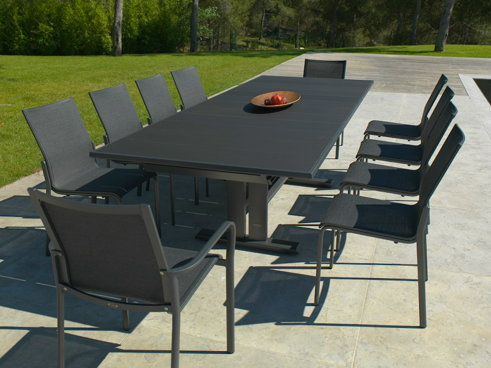 beautiful grande table de jardin aluminium gallery. Black Bedroom Furniture Sets. Home Design Ideas