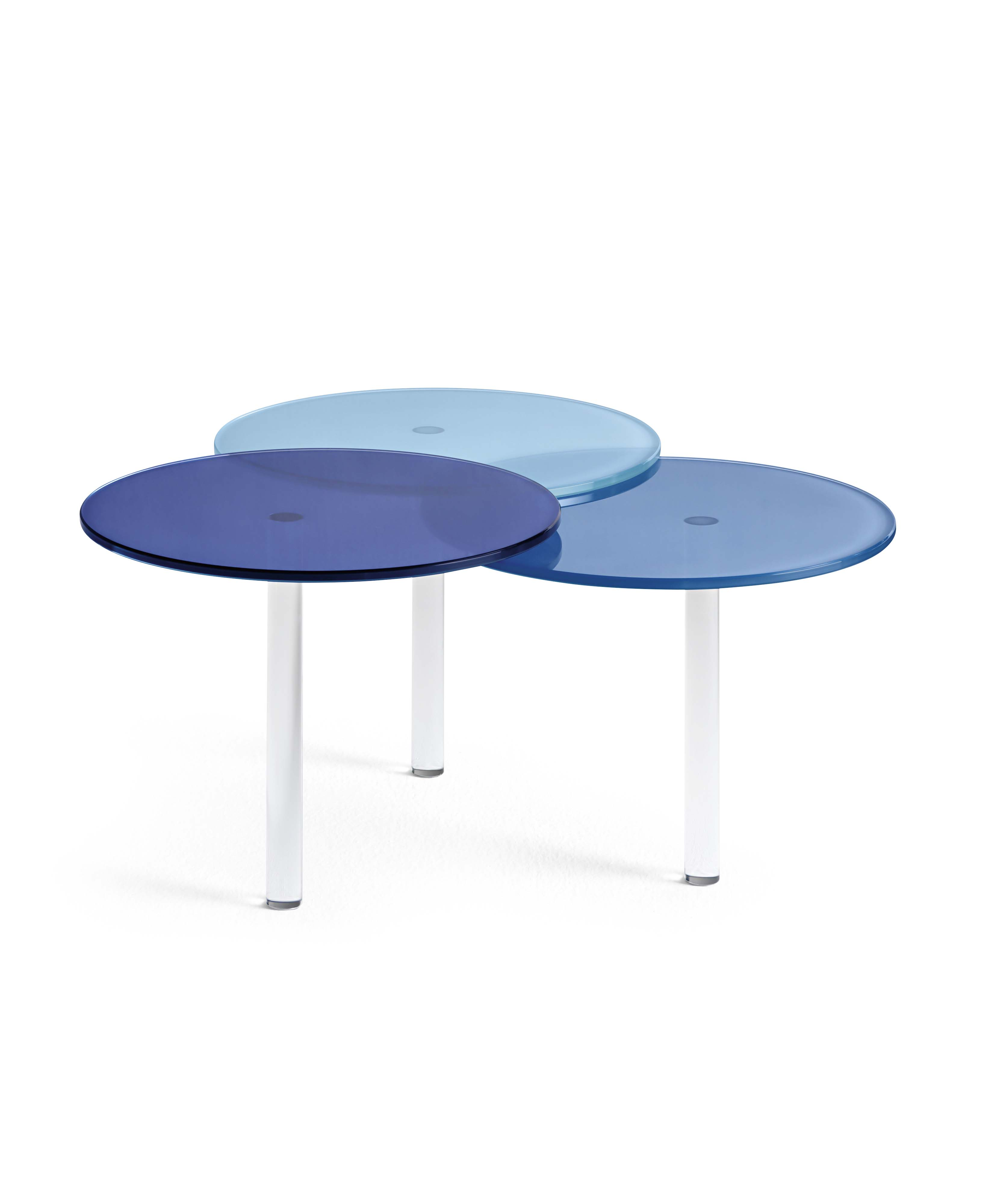 Glass Coffee Table / Bedside Table LENSES By Tonelli Design Design Paolo  Grasselli