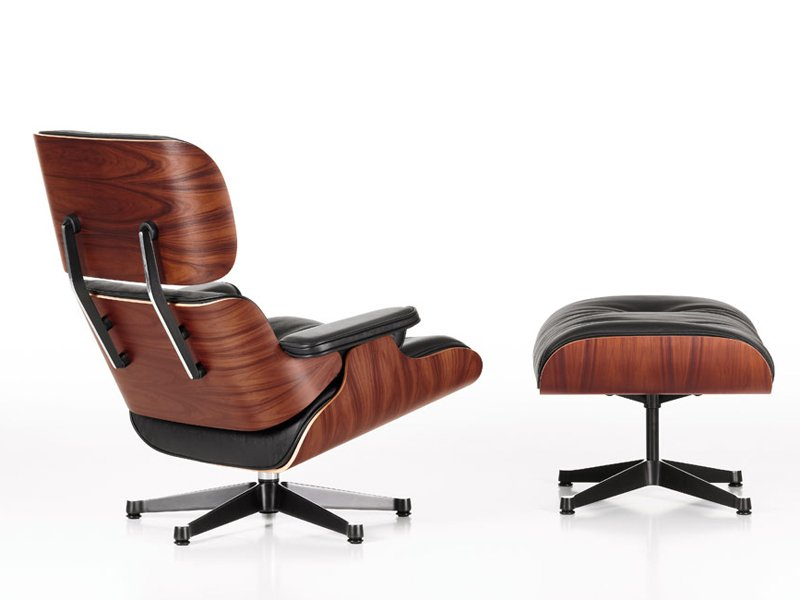 sessel aus leder lounge chair by vitra design charles eames. Black Bedroom Furniture Sets. Home Design Ideas