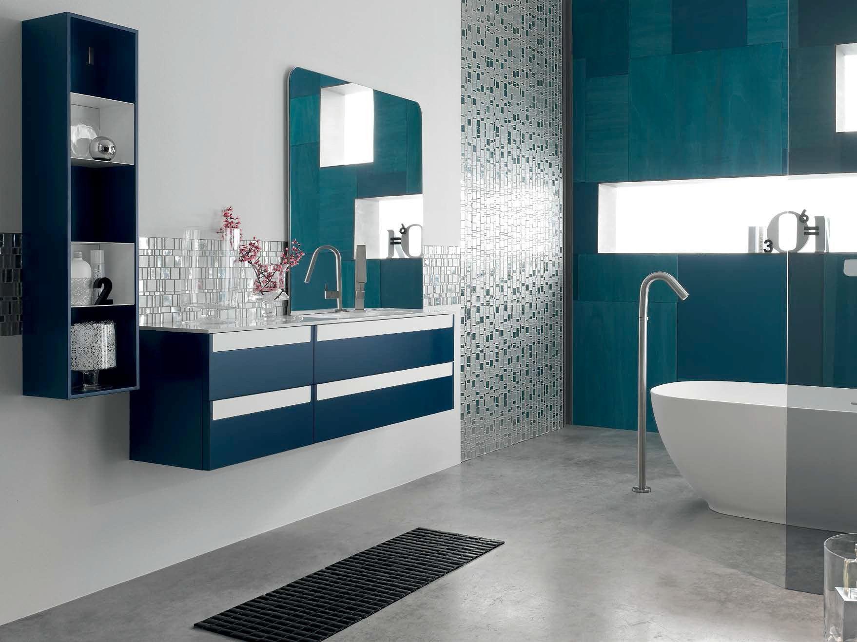 Bathroom Cabinet / Vanity Unit META   COMPOSITION 7 Meta Collection By Arcom