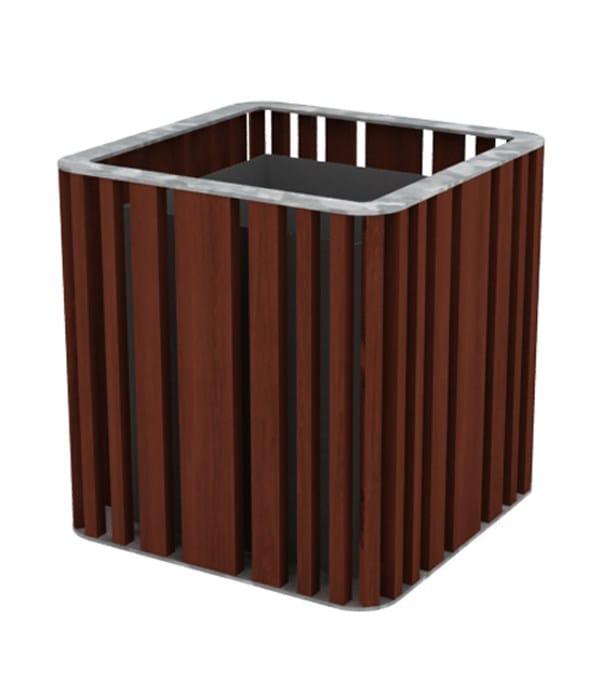 top galvanized steel - iroko wood