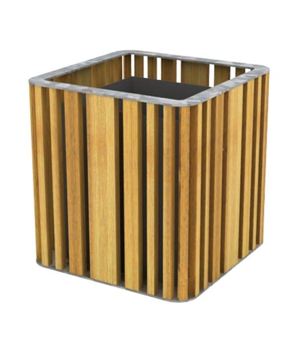 top galvanized steel - natural wood