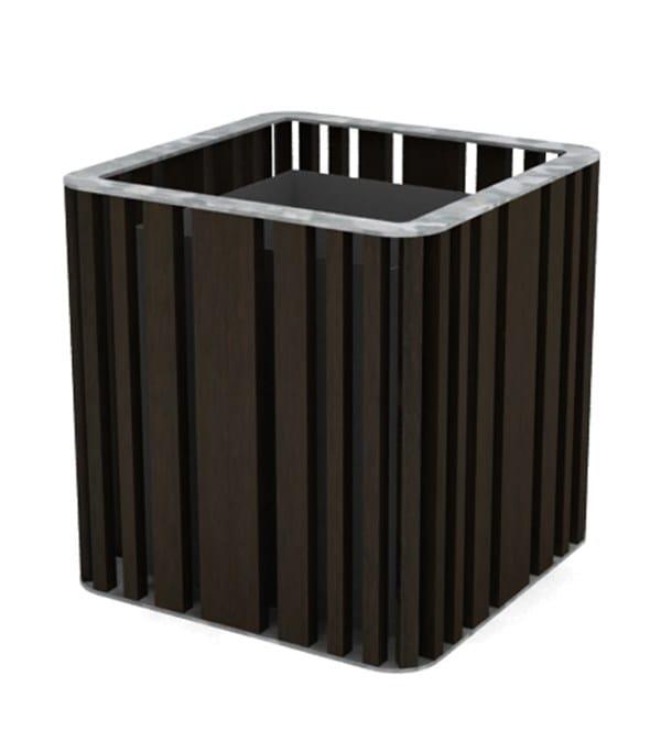 top galvanized steel - wenge wood