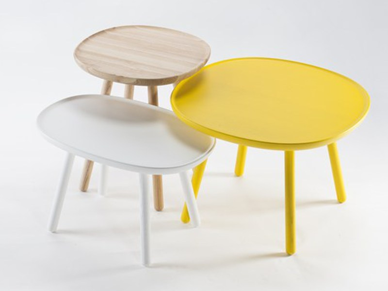 Solid Wood Side Table NAÏVE | Low Coffee Table Naïve Collection By EMKO UAB  Design Etc.etc.