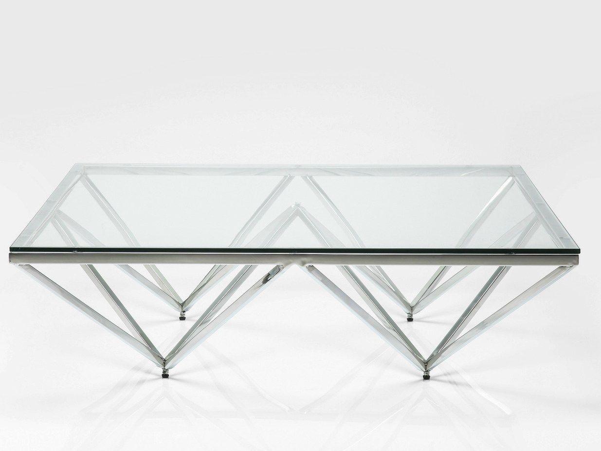 table basse verre et acier table basse design. Black Bedroom Furniture Sets. Home Design Ideas