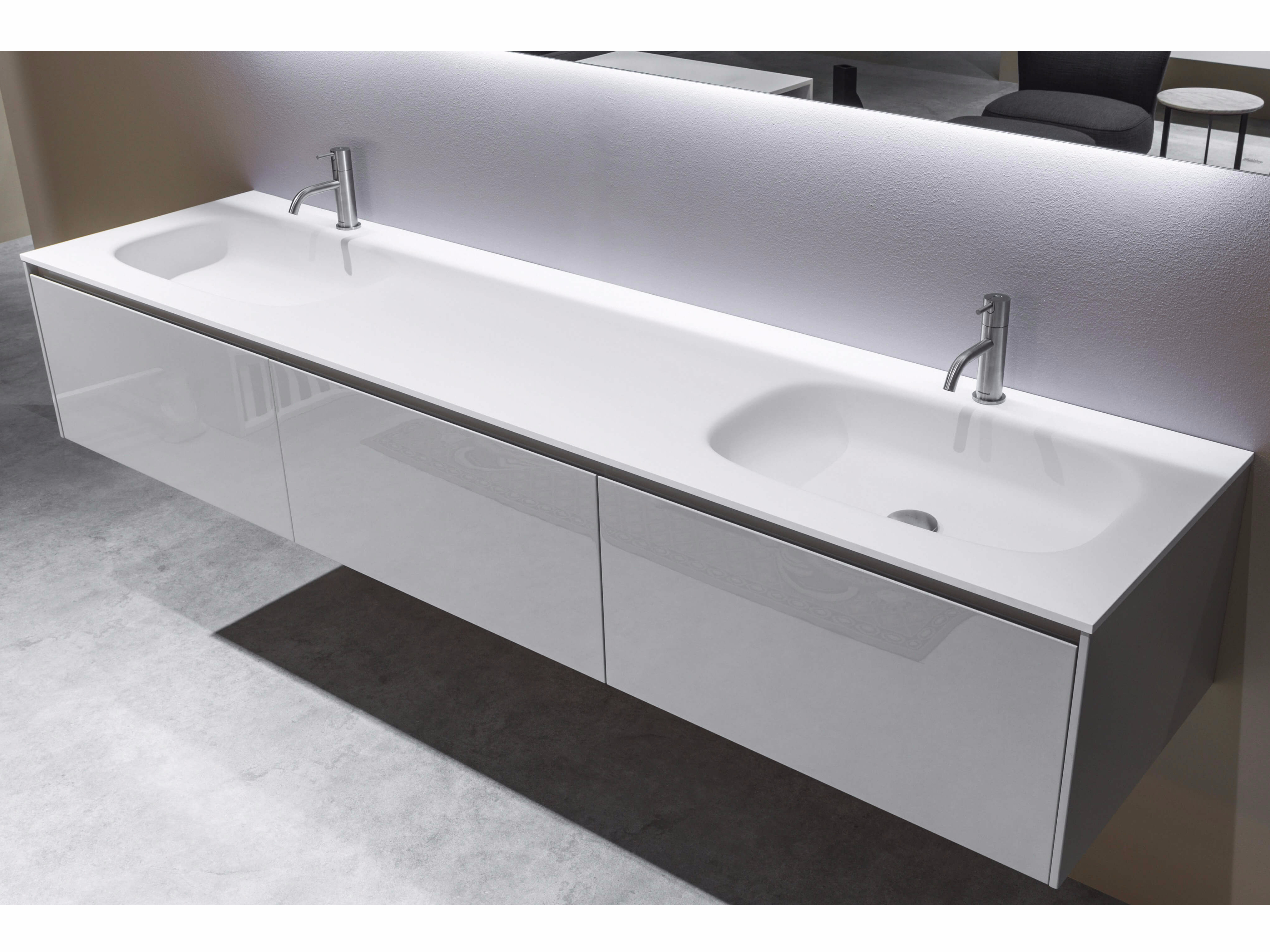 Flumood washbasin with integrated countertop nuvola by - Bagni antonio lupi ...