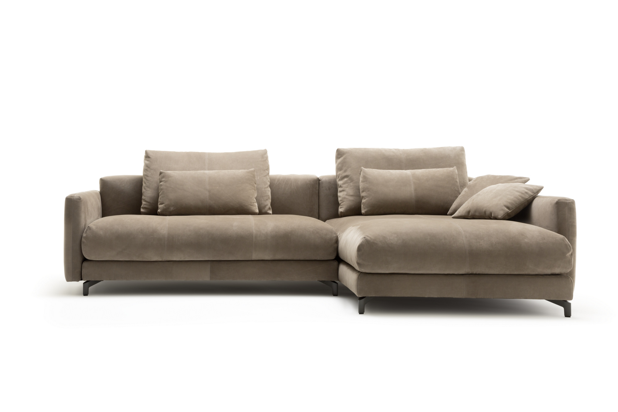 Sectional leather sofa with chaise longue nuvola sofa for Chaise longue style sofa