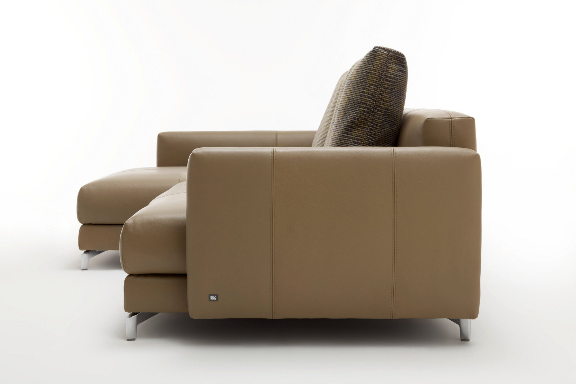 sectional leather sofa with chaise longue nuvola sofa with chaise longue by rolf benz. Black Bedroom Furniture Sets. Home Design Ideas
