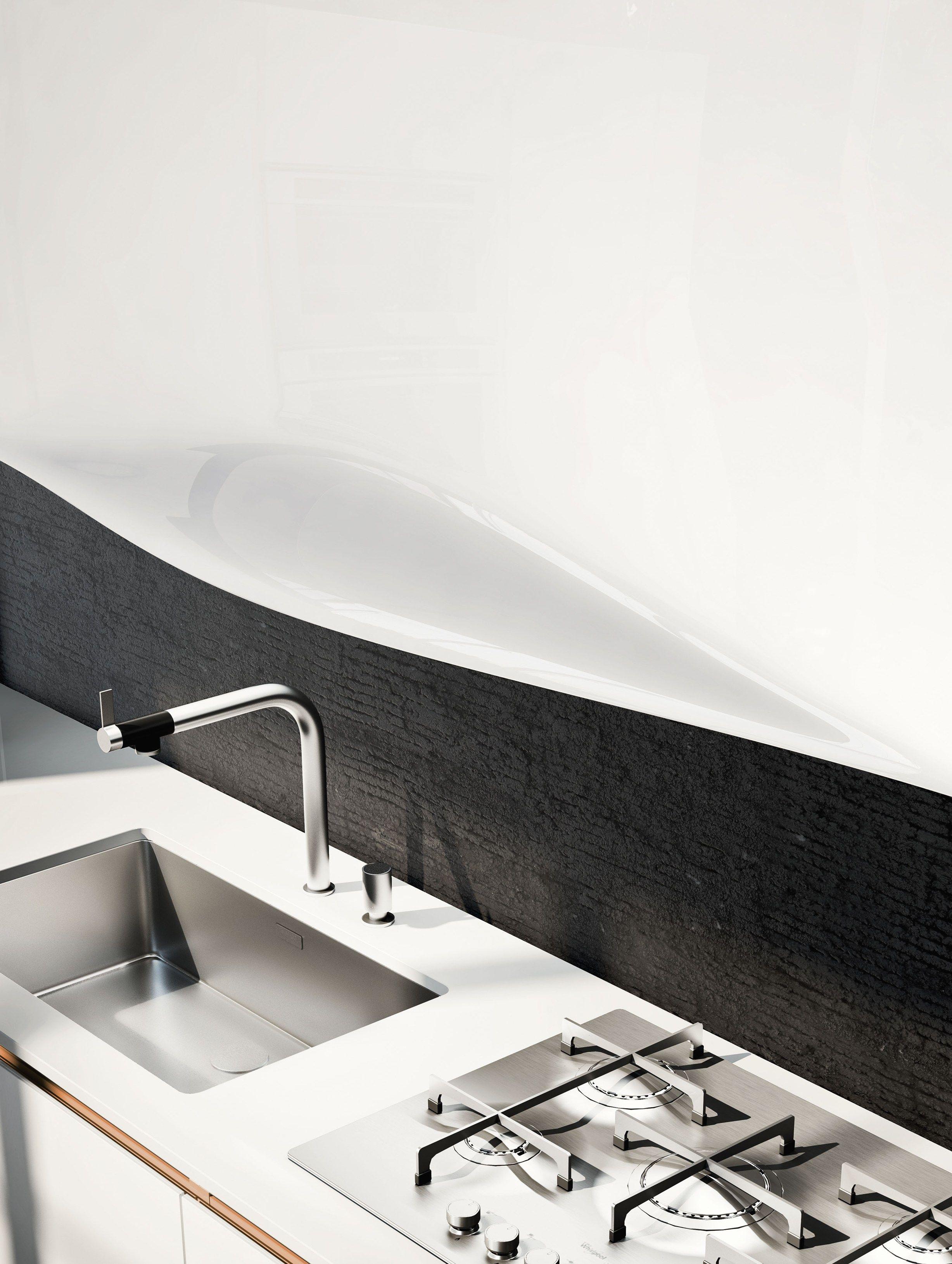 Schön OLA 25   Küche Mit Halbinsel Kollektion ICONE By Snaidero Design  Pininfarina