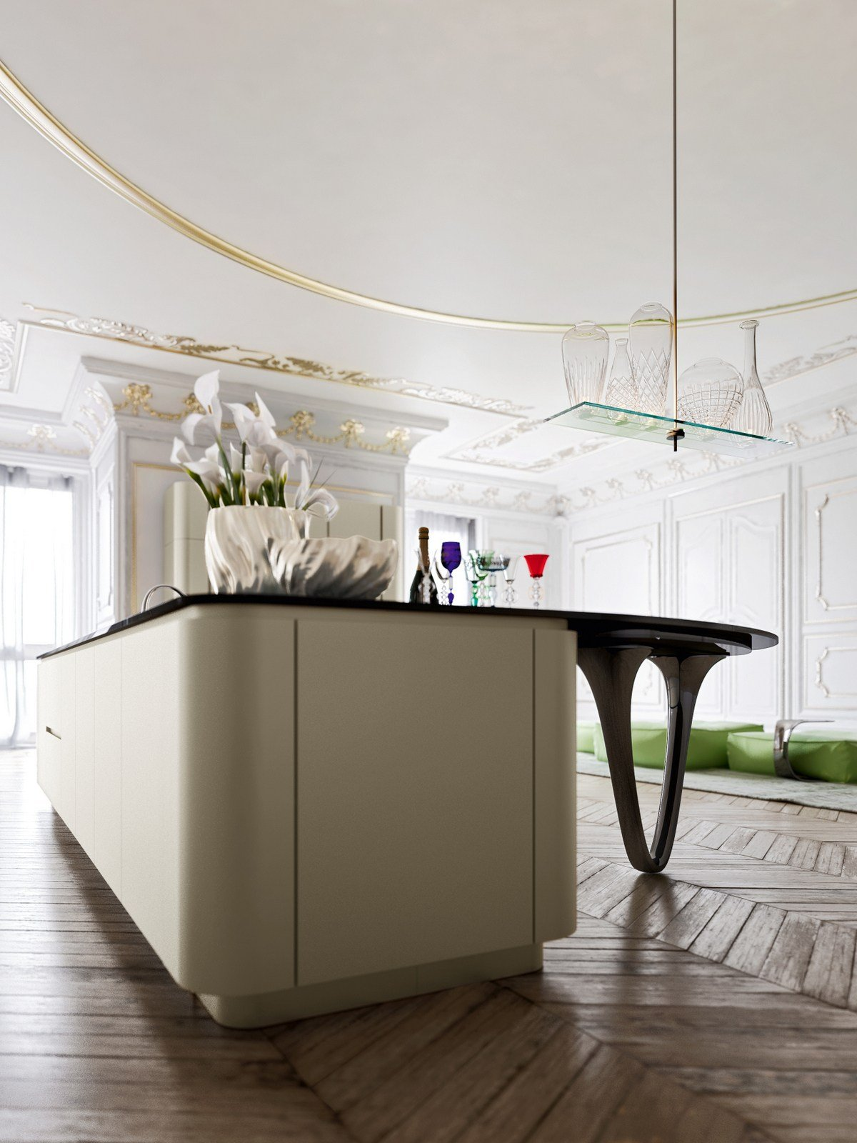 OLA 25   Lackierte Küche Kollektion ICONE By Snaidero Design Pininfarina