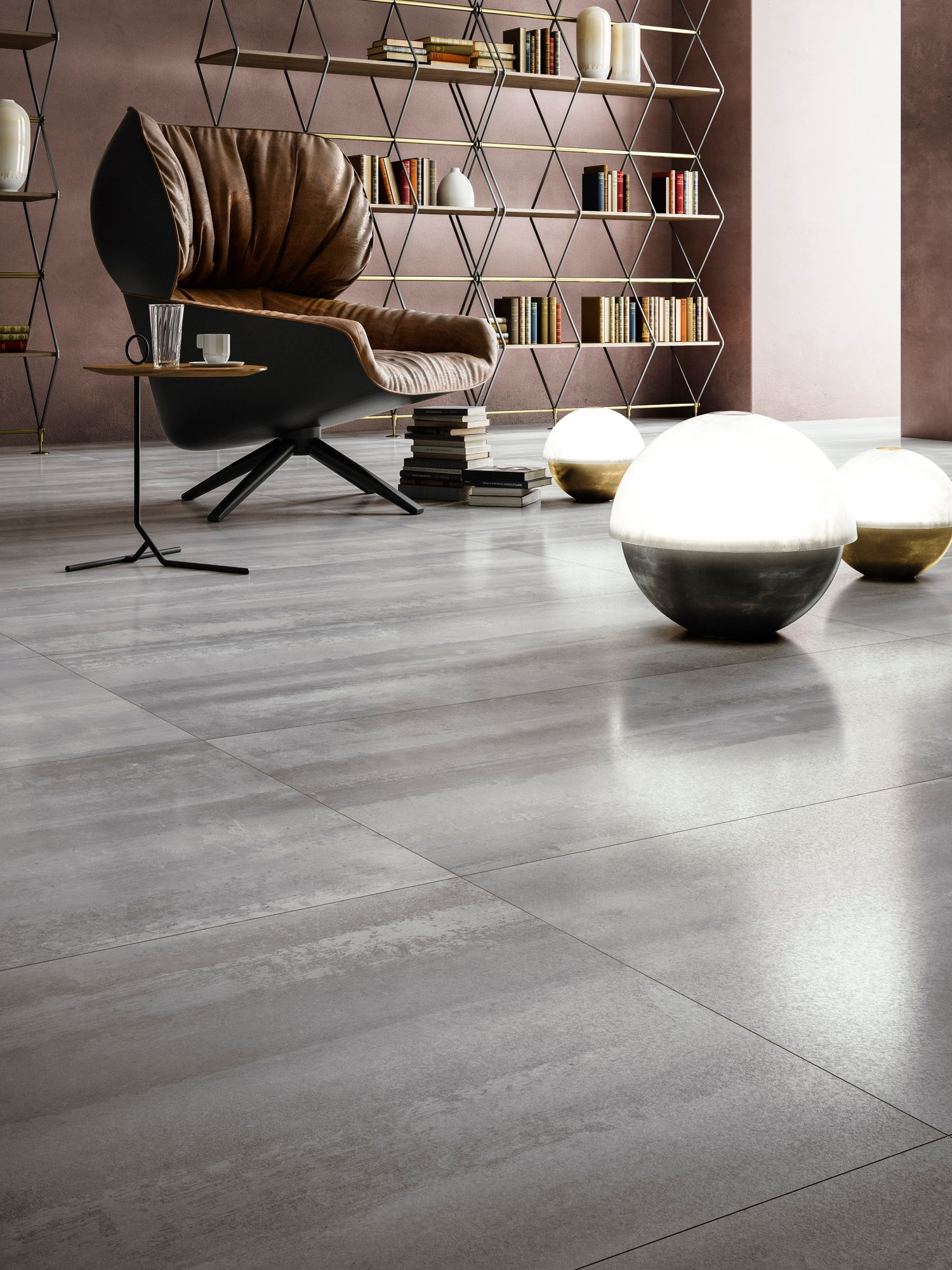 Porcelain stoneware wall floor tiles with stone effect for Carrelage 75x75