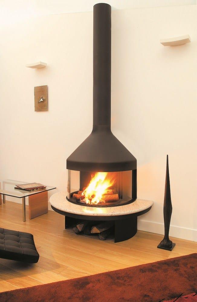 chimenea cerrada de pared con ventana panor mica optifocus. Black Bedroom Furniture Sets. Home Design Ideas