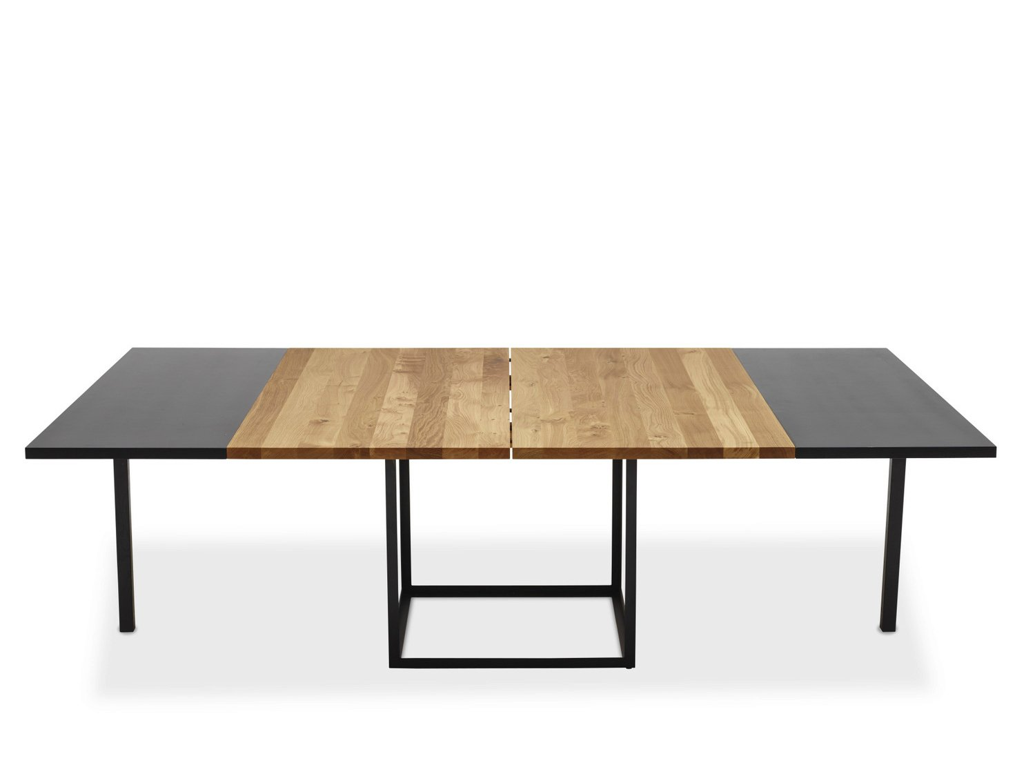 Jewel table table carr e by dk3 design s ren juul for Table carree avec rallonge integree