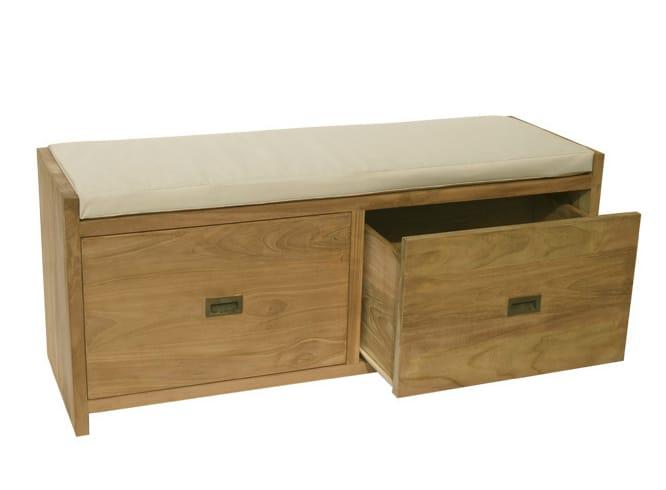 emily gartenbank mit aufbewahrung by il giardino di legno. Black Bedroom Furniture Sets. Home Design Ideas
