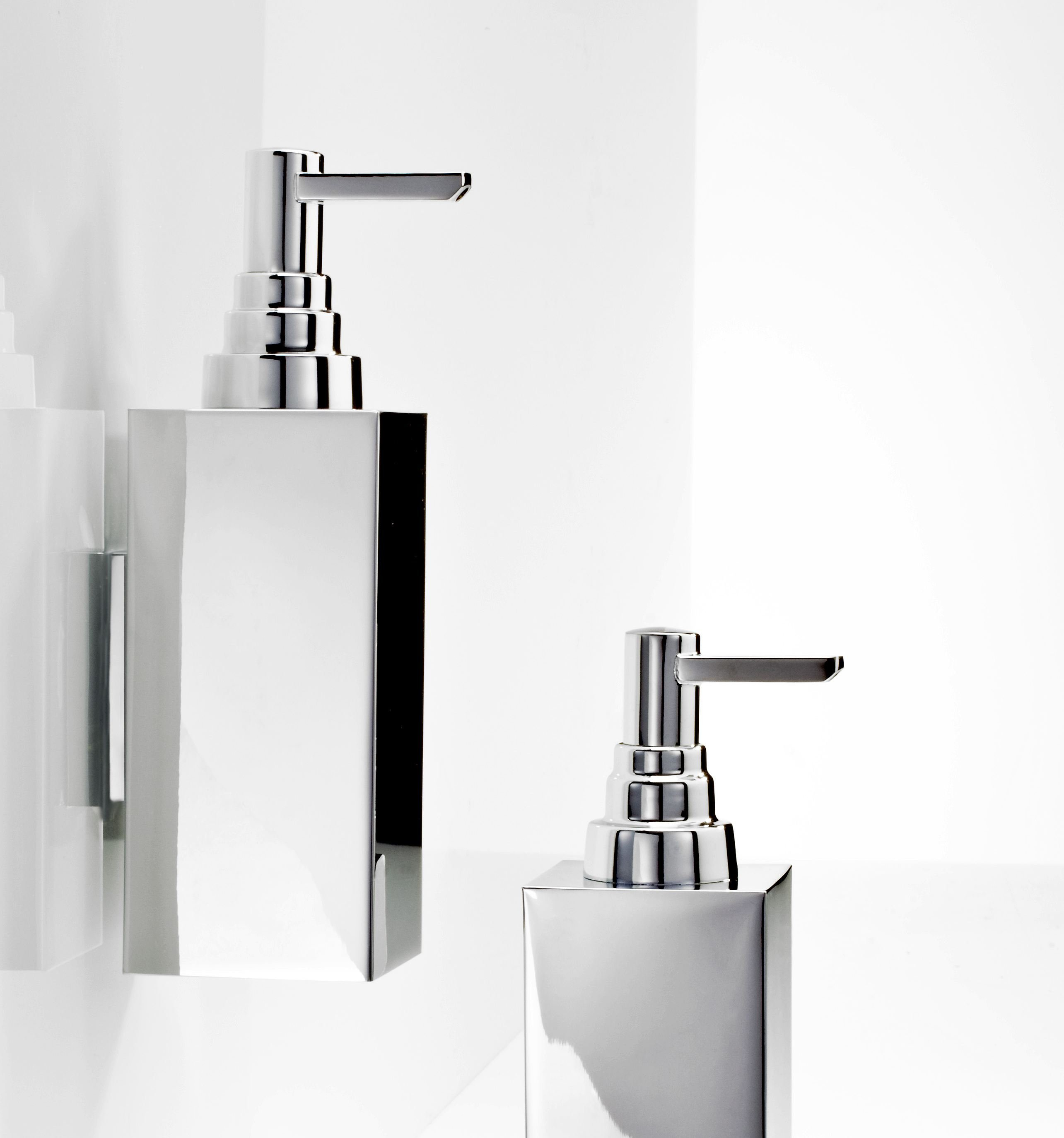 Wall mounted chrome plated liquid soap dispenser DW 310 N By DECOR