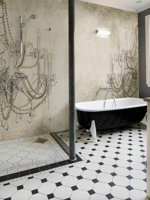 carta da parati effetto muro per bagno viktoria by wall dec design christian benini. Black Bedroom Furniture Sets. Home Design Ideas
