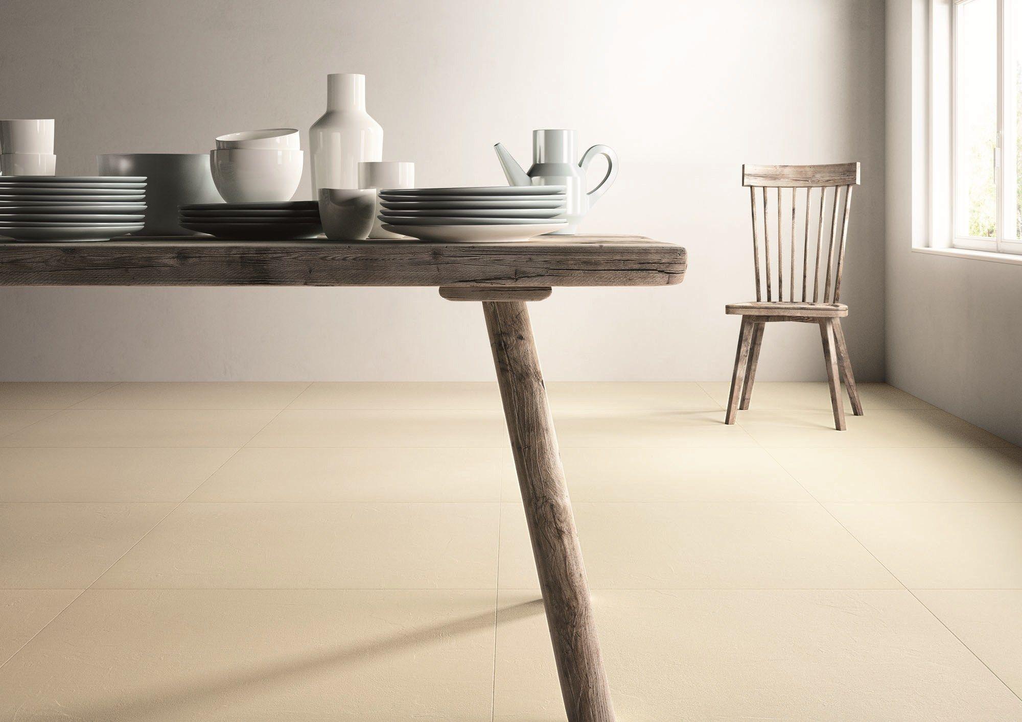 Pavimento/rivestimento in gres laminato effetto cemento MATERICA By COTTO D'ESTE