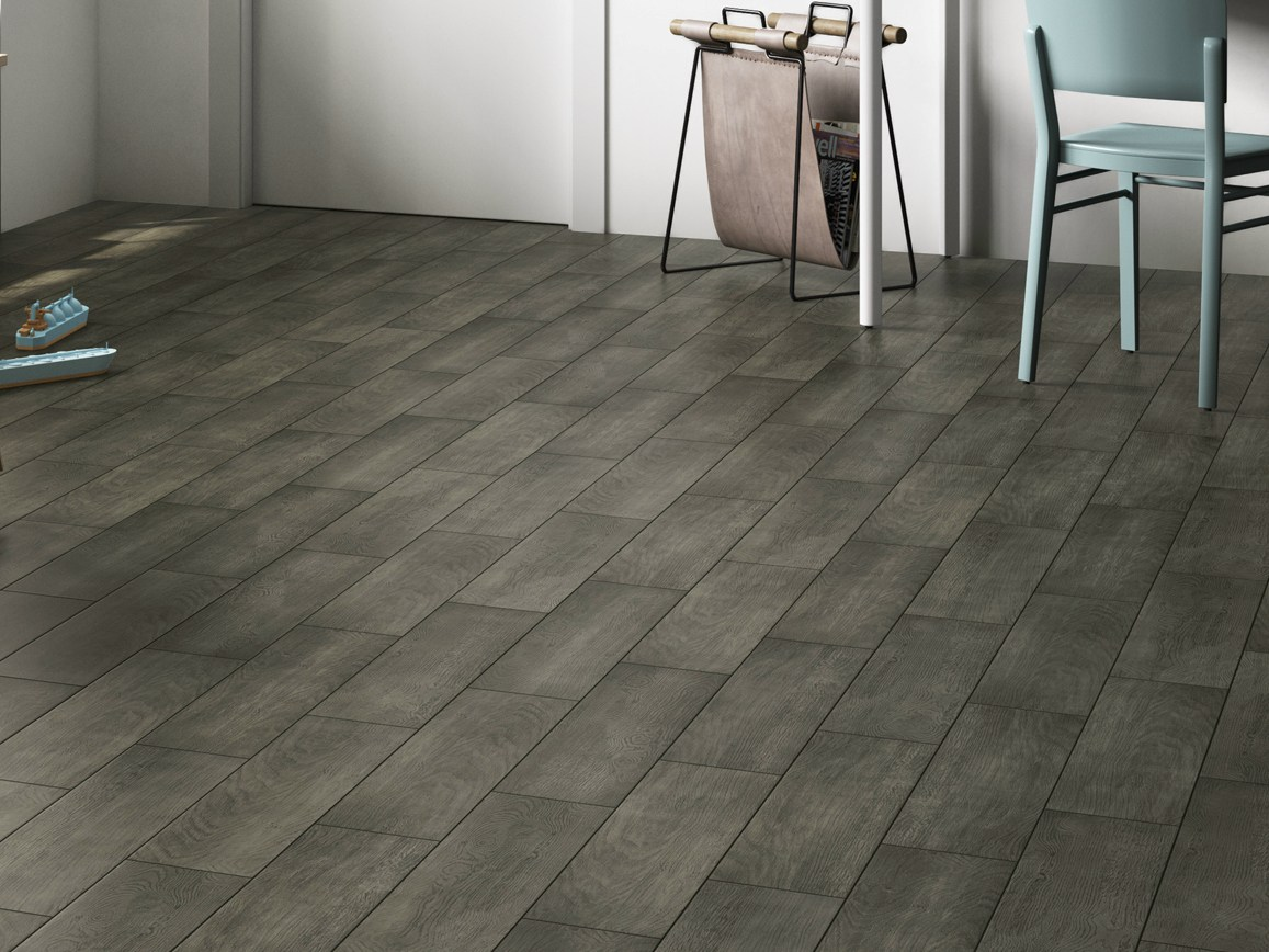 Gres porcellanato effetto legno grigio scuro bs68 - Parquet in bagno opinioni ...