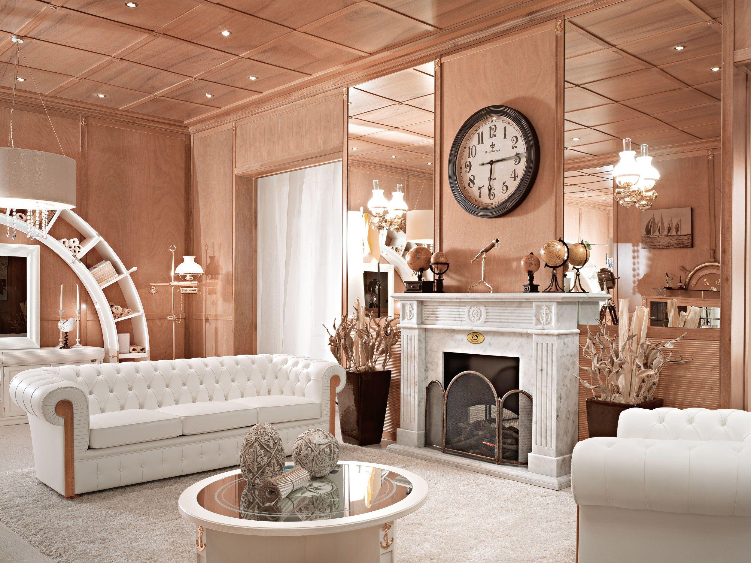 Salone In Stile Moderno Con Marmo E Camino Aperto Interior Design : Marina rivestimento per camini by caroti
