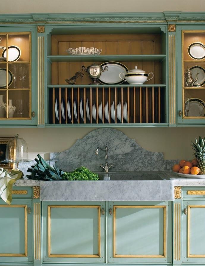 Cucina laccata foglia oro in stile veneziano fortuna gold by gd arredamenti - Cucina stile veneziano ...