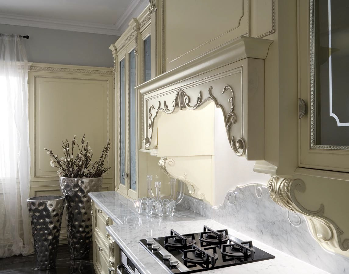 Venetian style lacquered silver leaf kitchen SERENISSIMA By GD ...