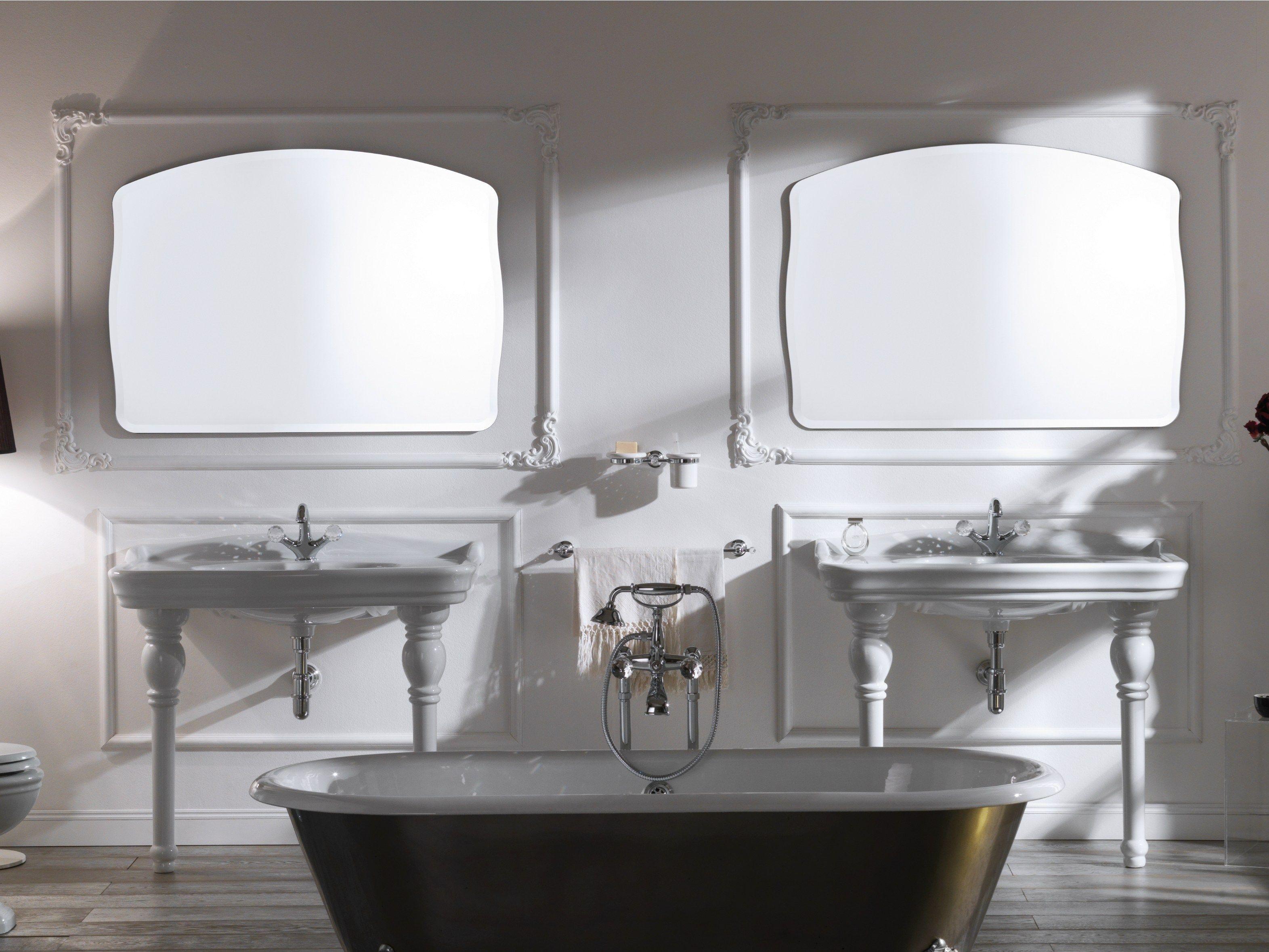 Impero specchio by olympia ceramica design gianluca paludi - Specchi bagno milano ...