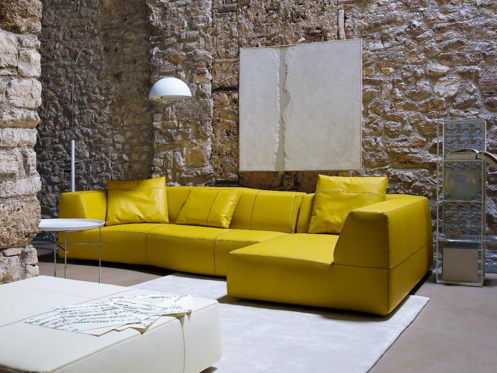 yellow corner sofa
