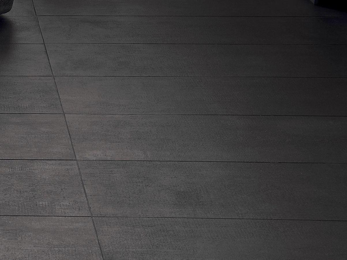 Porcelain Stoneware Wall Tiles Flow Dark Grey By Mutina