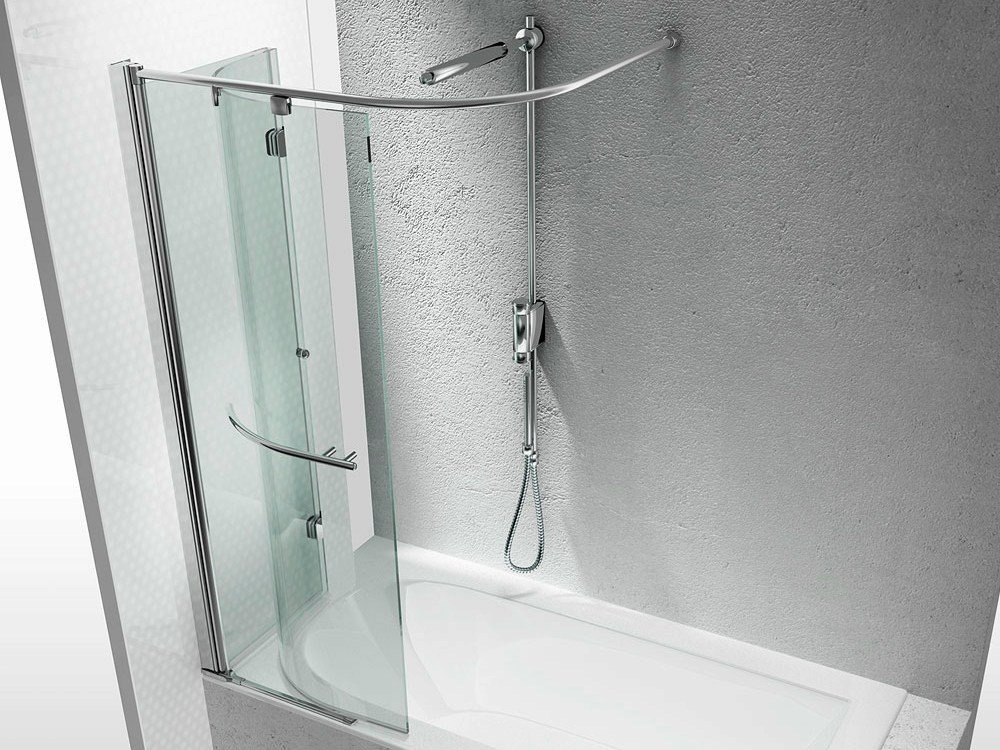 Tempered glass bathtub wall panel replay sr by vismaravetro - Pareti vasca da bagno ...
