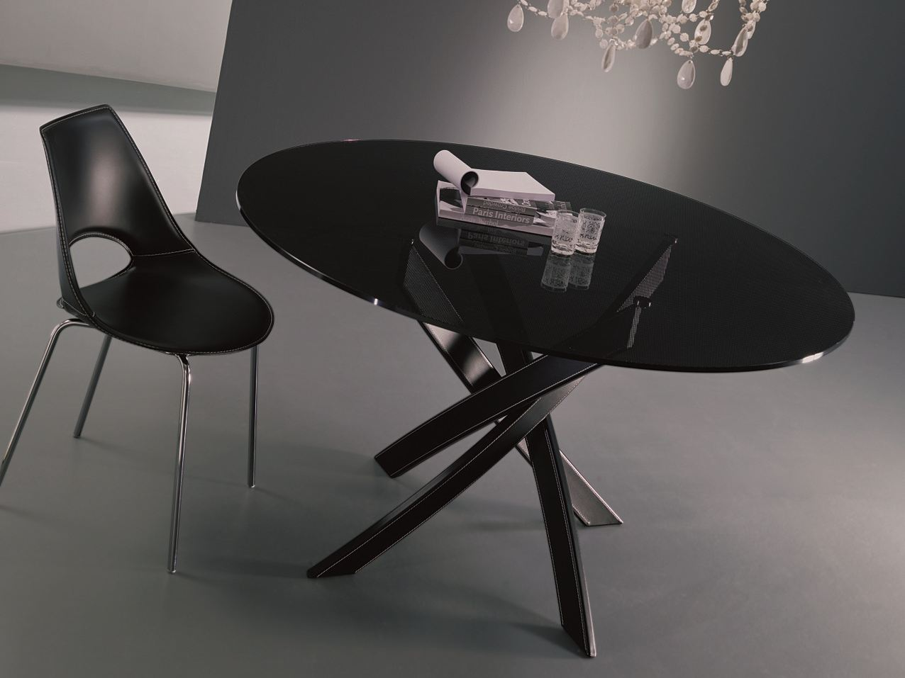 BARONE   Oval table By Bontempi