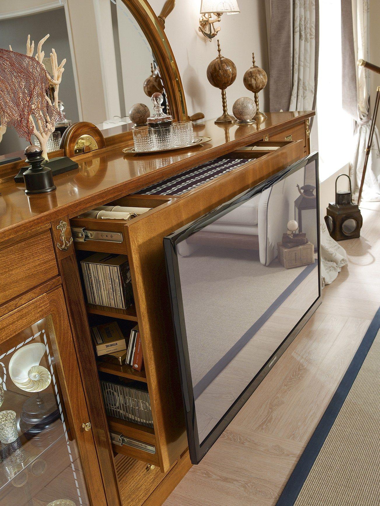 Porta Tv In Stile Classico.Magellano Parete Attrezzata Con Porta Tv By Caroti