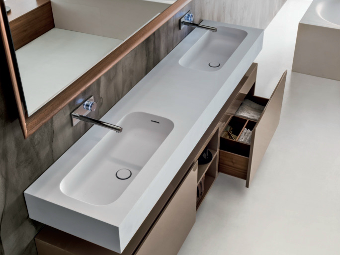 round h15 double washbasin by falper