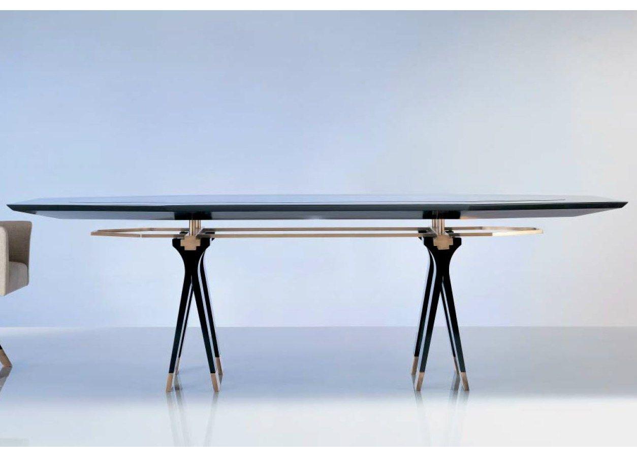 Sc1013 c tavolo da riunione by oak design luca scacchetti for Glass tavoli cristallo
