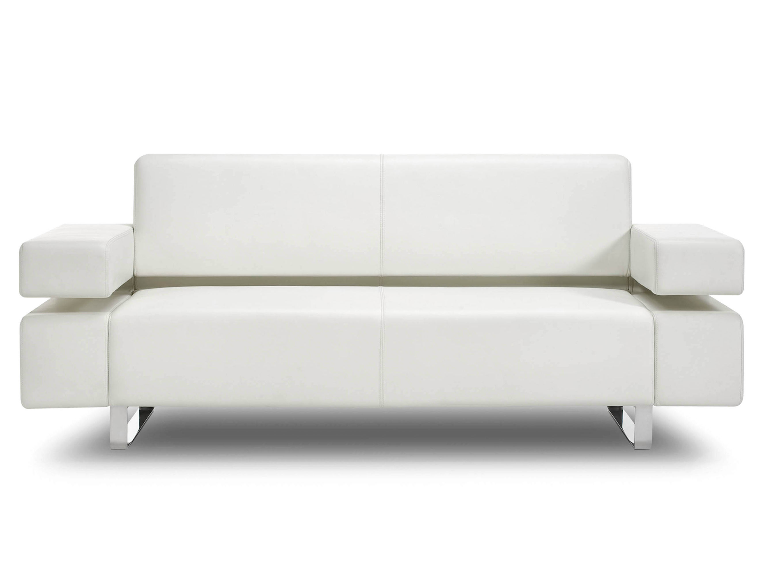 Sled base 2 seater leather sofa MONACO | 2 seater sofa Monaco Collection By  Rshults design BRDA - BROBERG & RIDDERSTRLE