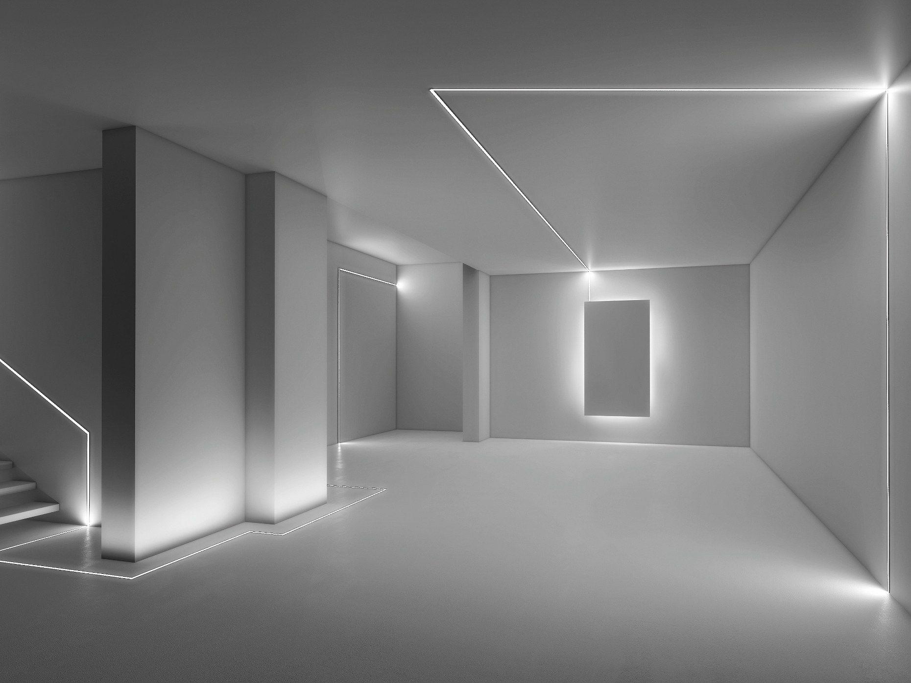 Microfile profilo per illuminazione lineare by lucifero 39 s - Esempi di illuminazione a led per interni ...
