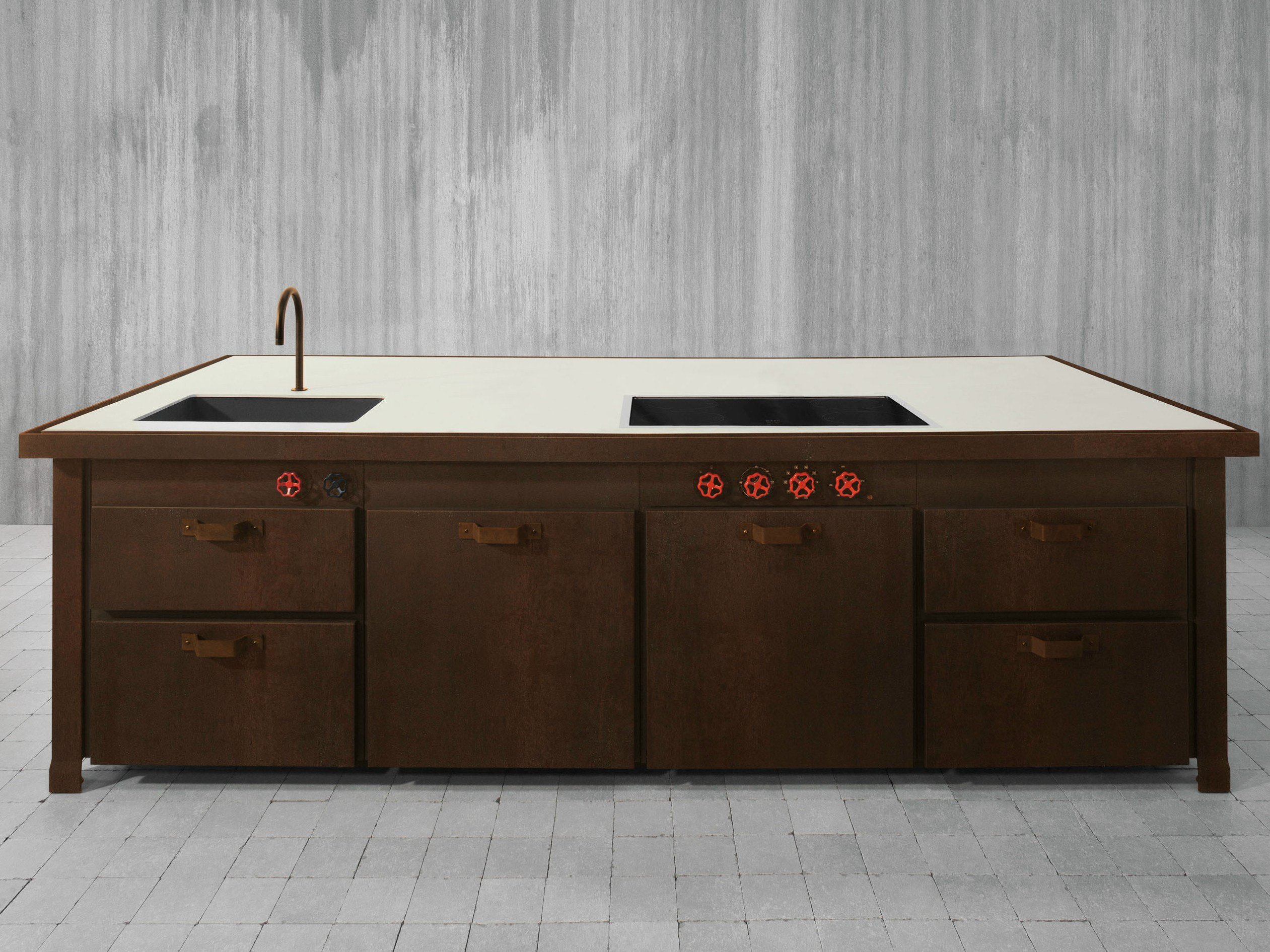 Küche Aus Corten™ Mit Kücheninsel MINÀ LIMITED EDITION By Minacciolo Design  Silvio Stefani
