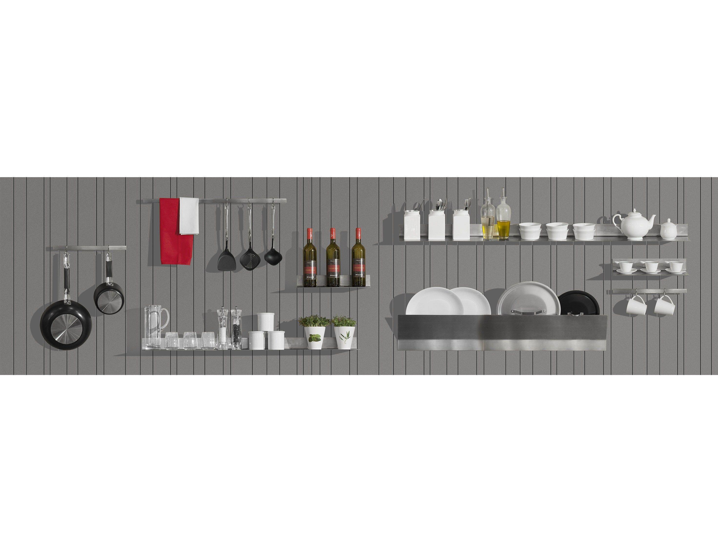Schienale per cucina attrezzato in legno WALL-PLAY By Minacciolo